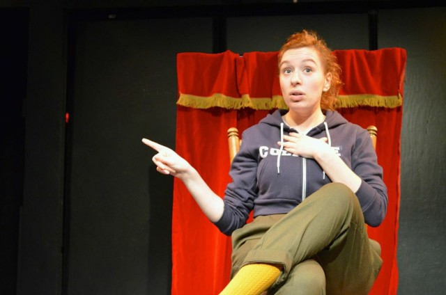 "Antonia Lassar as ""Lena,"" the Title IX Coordinator. image courtesy of PTSD"