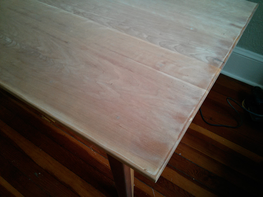cherry wood turns really light when you sand it