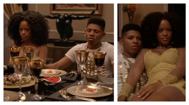 Tiana and Hakeem in Empire