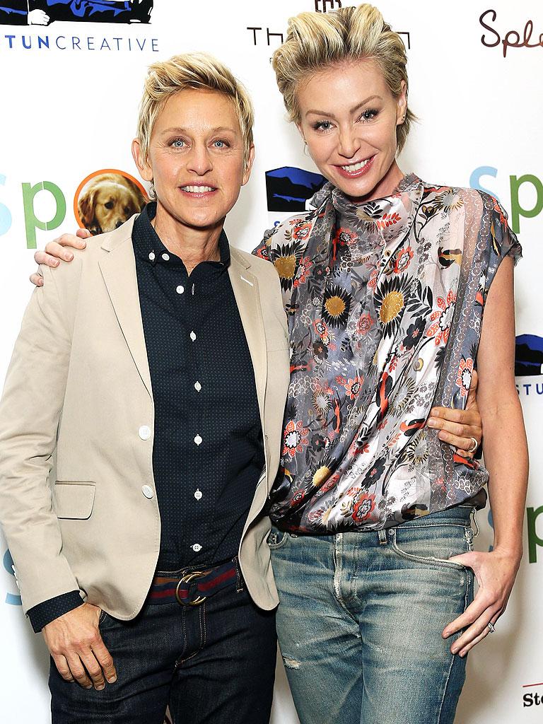 10  Portia De Rossi  42  and Ellen DeGeneres  57 Ellen Degeneres And Portia De Rossi Wedding Ring