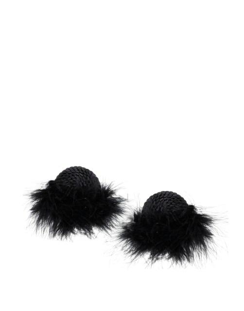 Sequin Feather Nipple Tassels
