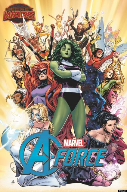 A-Force cover via Marvel
