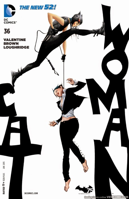 Eiko and Selina on the cover of Catwoman #36 with art by Jae Lee.