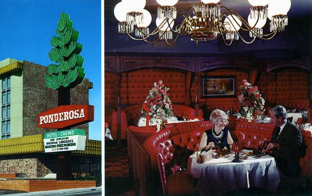 Ponderosa Restaurant in Las Vegas, 1968 via flickr