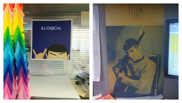 Left: my desk today. Right: My desk in 2011.