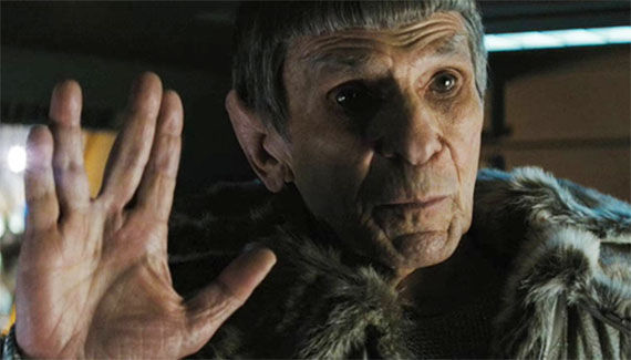 Nimoy as Spock in the  J.J. Abrams's Star Trek reboot, 2008.