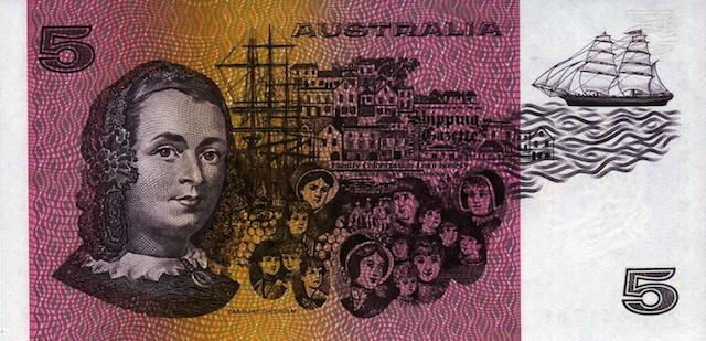 5 Australian dollars note