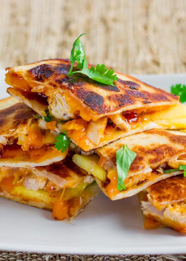 BBQ Mango and Chicken Quesadilla