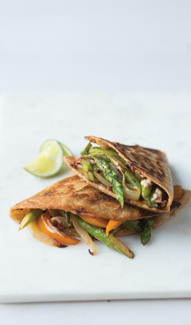 Chipotle Asparagus Quesadilla