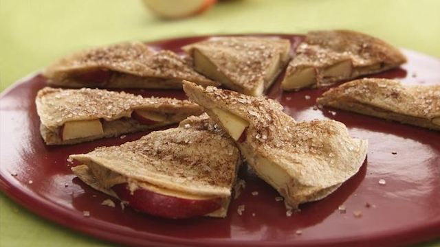 Creamy Apple Cinnamon Quesadilla