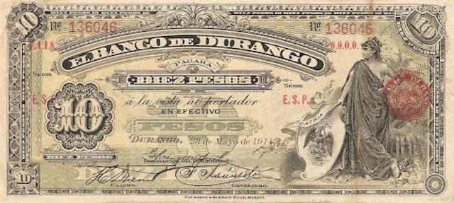 Durango 10 pesos