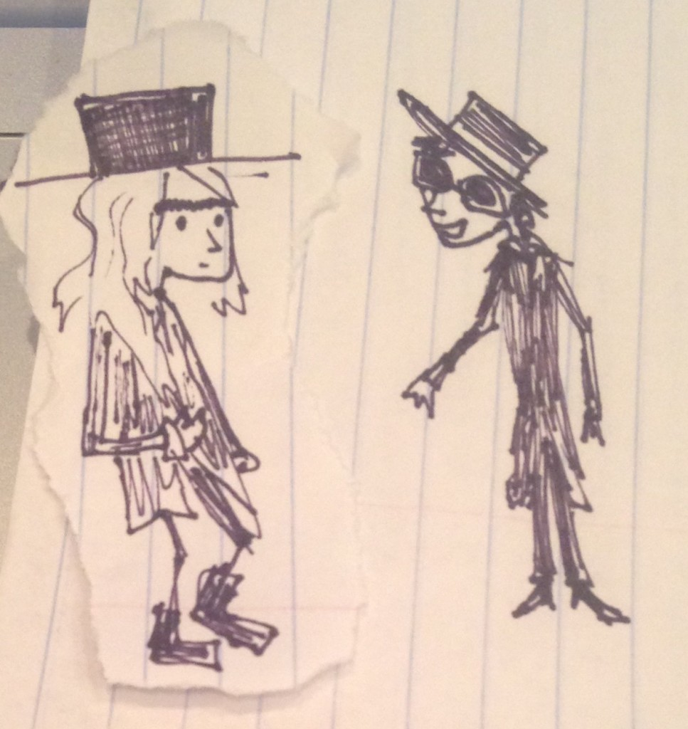 Instead of paparazzi shots, please enjoy this artist's rendering of what these two goodlooking humans look like next to each other.