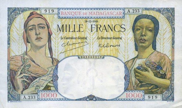 Madagascar-1000-Francs-1948-F