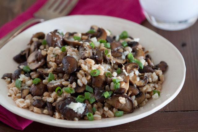 Mushroom-Farro-and-Fontina-Salad