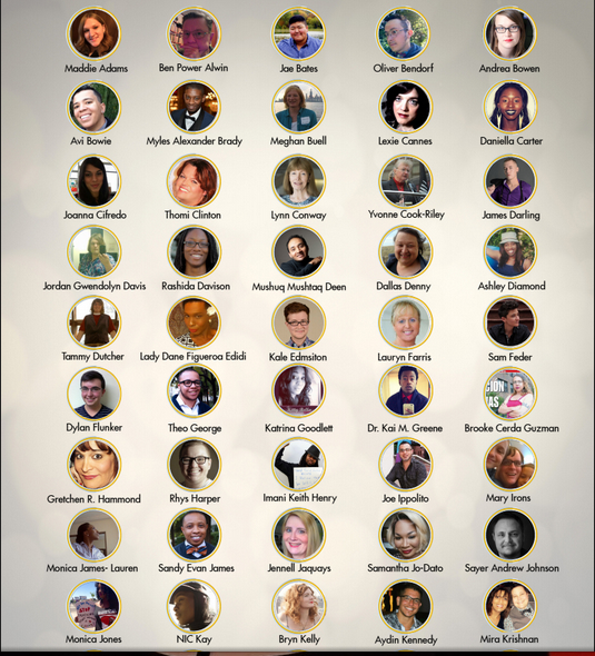 Just a sampling of the people on this year's list. Via thetrans100.com