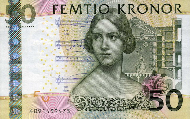 Sweden currency 50 Kronor
