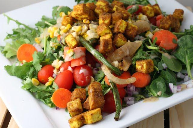 Vegetarian Curried Tofu Salad Recipe