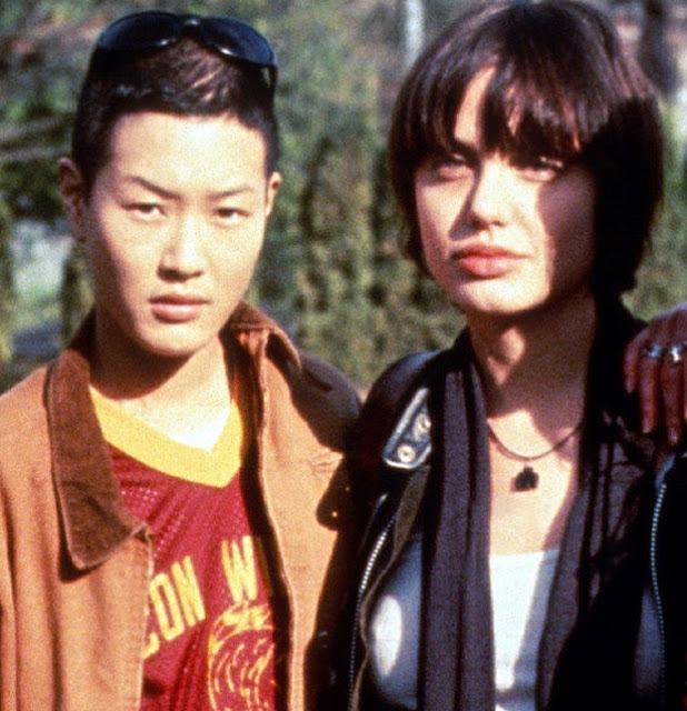 Jenny Shimizu and Angelina Jolie, 1995