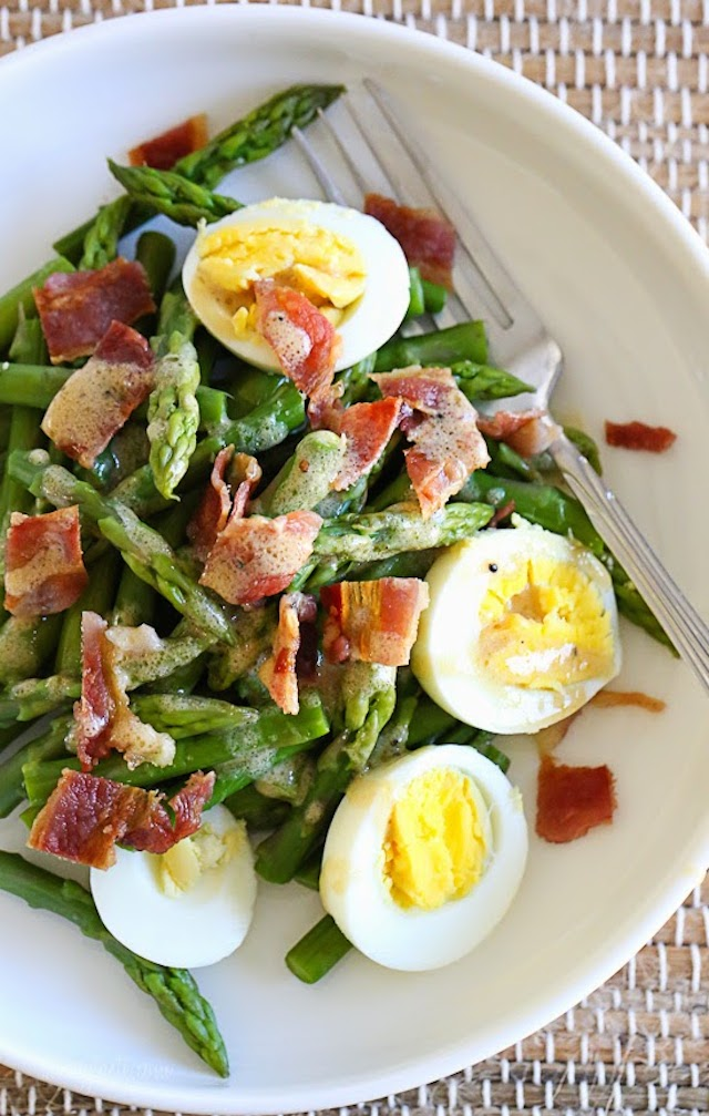 83. Asparagus Egg and Bacon Salad with Dijon Vinaigrette