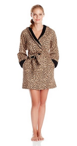 casual moments leopard print robe