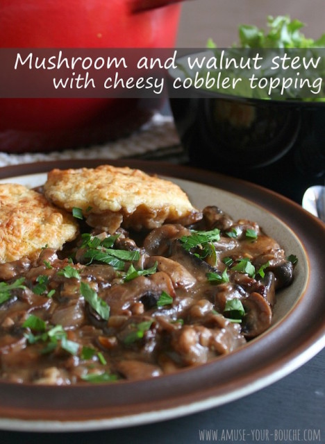 cheesymushroomstewcobblertopping