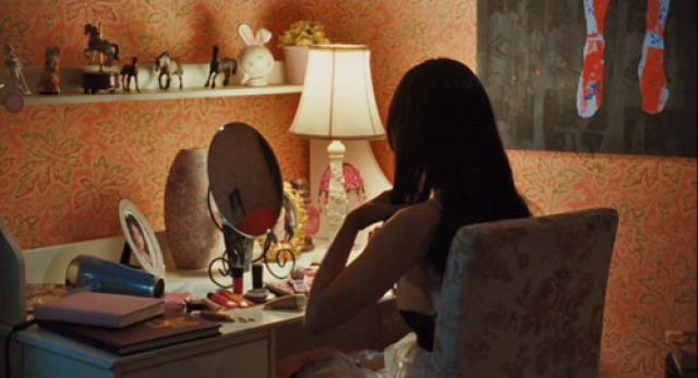 I don't remember whether this bedroom in Editorial Assistant Chelsey's favourite movie Jennifer's Body belongs to Megan Fox or Amanda Seyfried, but either way it's filled with framed portraits of Megan Fox.