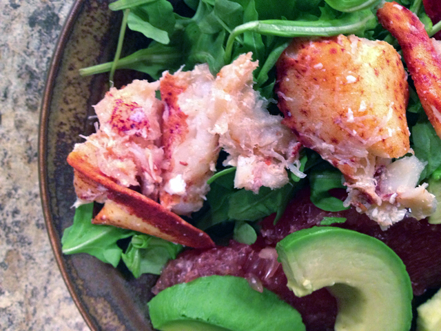 lobster-avocado-grapefruit-salad-easy