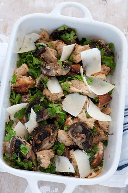 mushroom bread salad