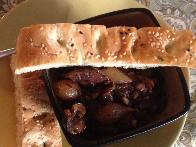 mushroom stifado
