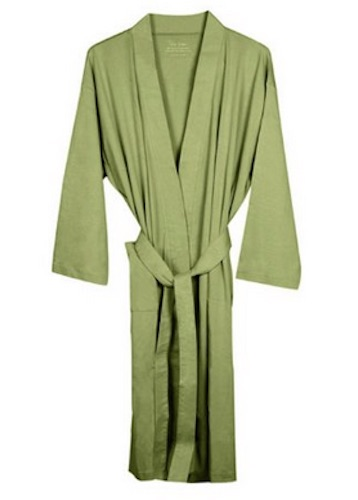 organic sage kimono robe