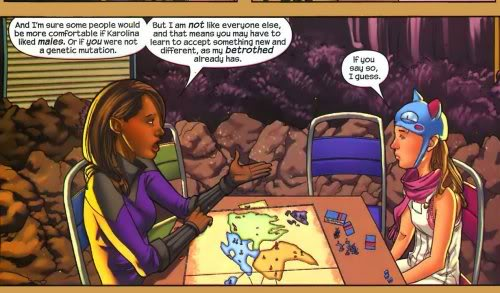 Xavin laying down some truths. Art by Adrian Alphona.