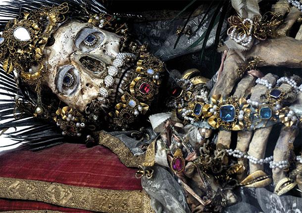 catacombs skeleton saints
