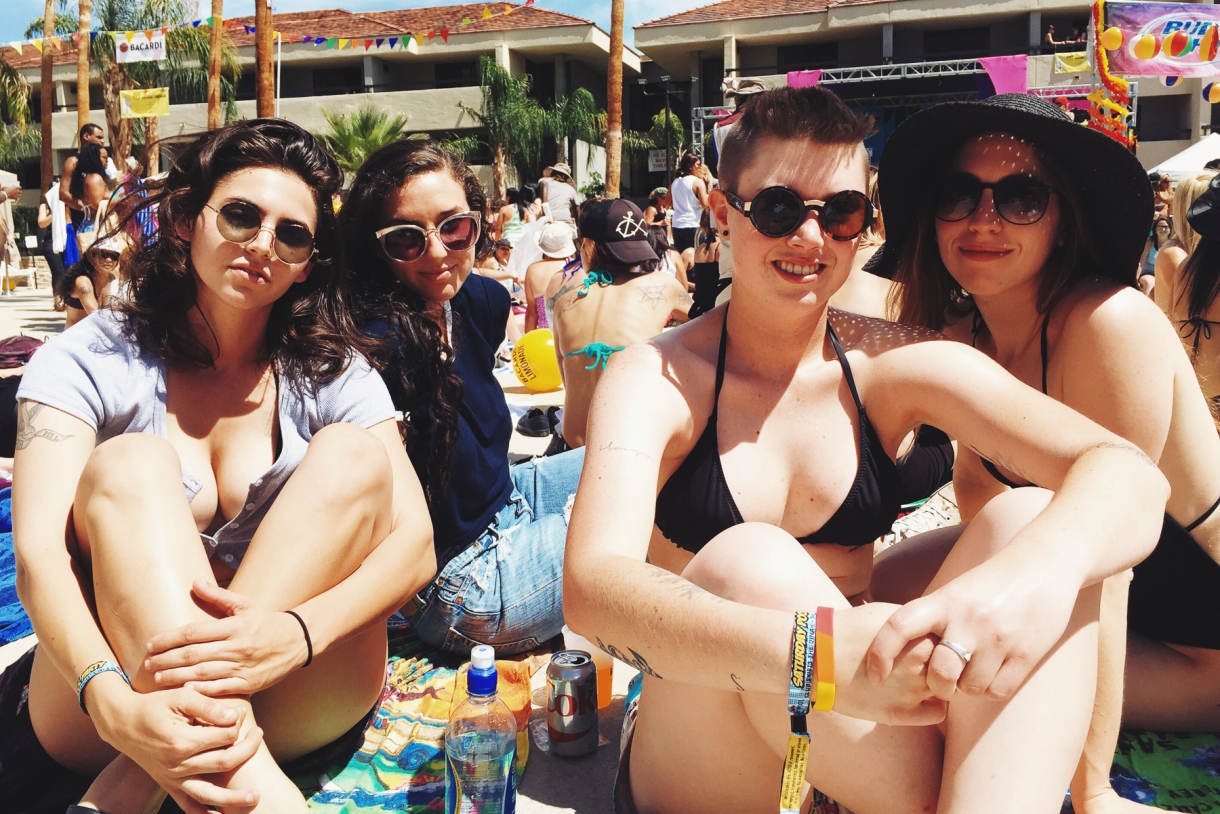 "Us at a Dinah pool party, or ""What happens when I hand other people my camera"""