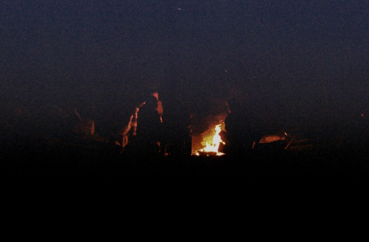 A campfire gathering we crashed.