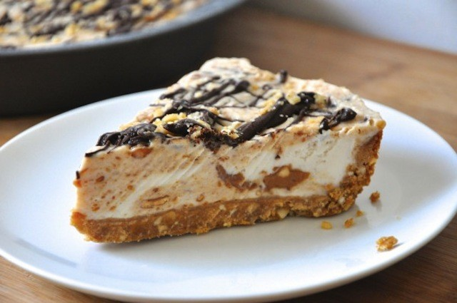 49 peanut brittle and caramel crunch ice cream pie