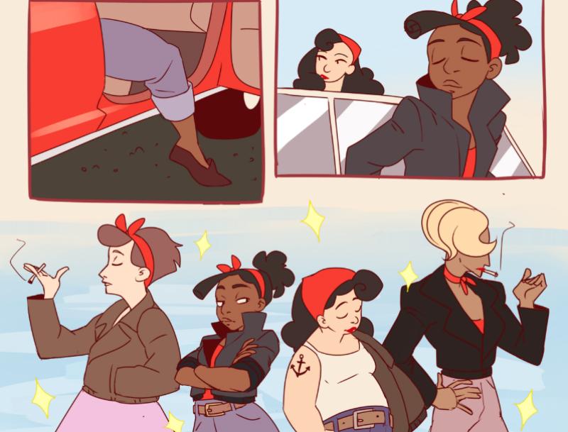 Black butch lesbian