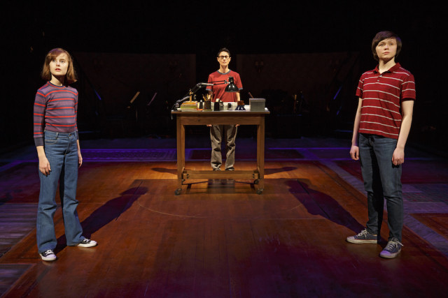 Sydney Lucas, Beth Malone and Emily Skeggs as the three versions of Alison Photo by Joan Marcus