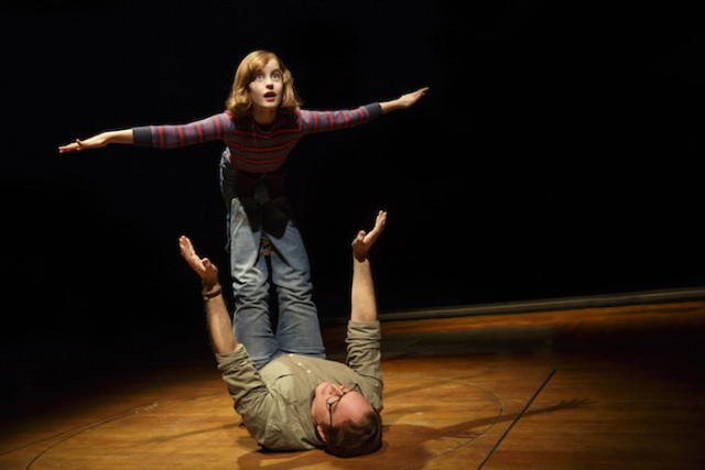 Sydney Lucas and Michael Cerveris as small Alison and Bruce Photo by Joan Marcus