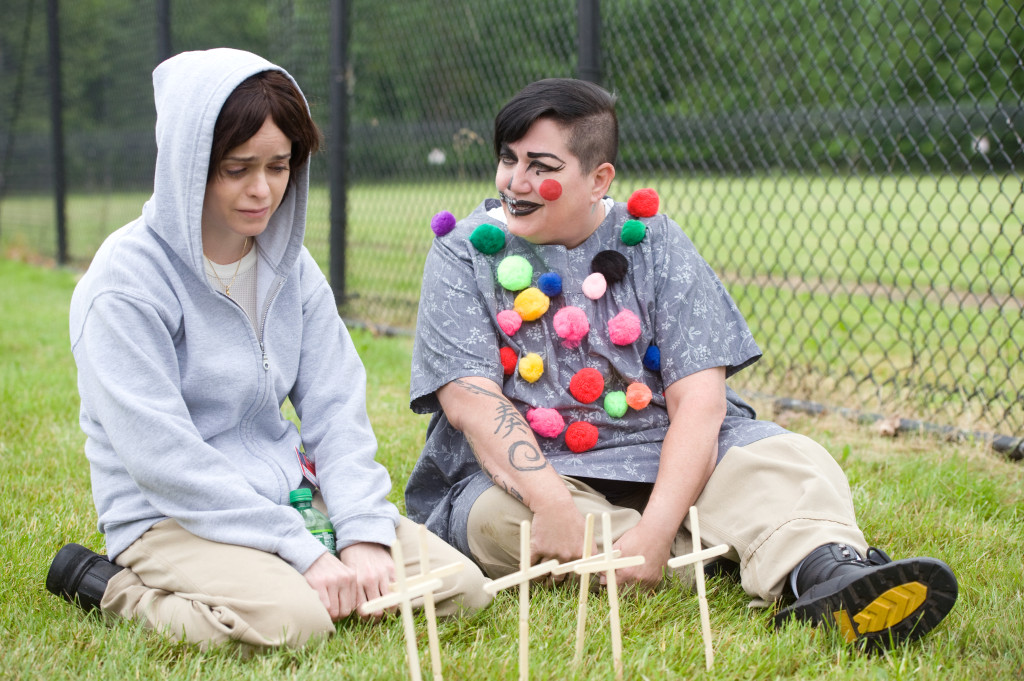 "Taryn Manning and Lea DeLaria in season 3 of Netflix's ""Orange is the New Black."" Photo Credit: JoJo Whilden/Netflix"