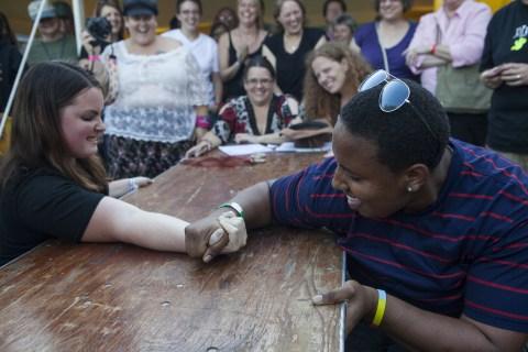 Credit: Kaitlyn Bernauer - Source: https://kmbernauer.wordpress.com/2012/09/19/the-ohio-lesbian-festival/