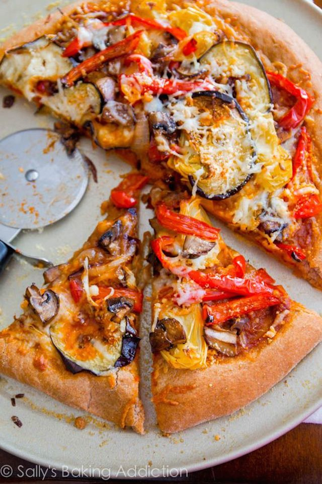 Roasted Vegetable Whole Wheat Pizza