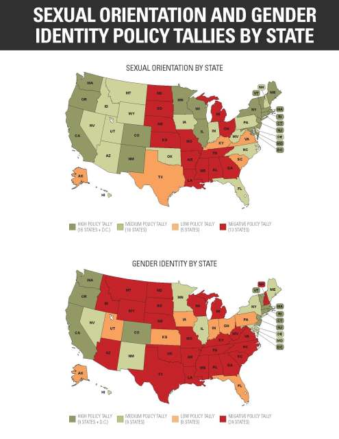 Sexual Orientation and Gender Identity Policy Tallies By State