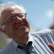 """WASHINGTON, DC - APRIL 20:  U.S. Sen. Bernie Sanders (I-VT) participates in a """"Don't Trade Our Future"""" march organized by the group Campaign for America's Future April 20, 2015 in Washington, DC. The event was part of the Populism 2015 Conference which is conducting their conference with the theme """"Building a Movement for People and the Planet.""""   (Photo by Win McNamee/Getty Images) ORG XMIT: 549564311 ORIG FILE ID: 470455944"""