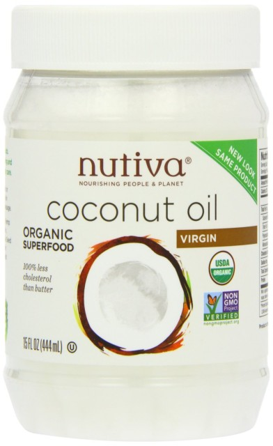 Nutiva Coconut Oil (http://www.amazon.com/Nutiva-Organic-Virgin-Coconut-15oz/dp/B001EO5Q64/ref=sr_1_3?ie=UTF8&qid=1413619202&sr=8-3&keywords=coconut+oil)