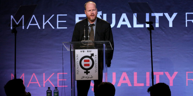 """LOS ANGELES, CA - NOVEMBER 04:  Honoree Joss Whedon speaks onstage at Equality Now presents """"Make Equality Reality"""" at Montage Hotel on November 4, 2013 in Los Angeles, California.  (Photo by Jonathan Leibson/Getty Images for Equality Now)"""