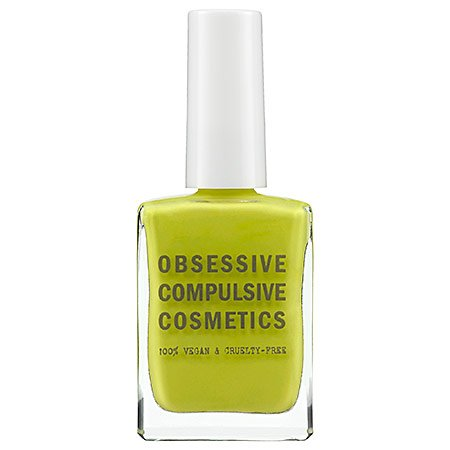 OCC Nail Polish (http://www.amazon.com/Obsessive-Compulsive-Cosmetics-Lacquer-Wasabi/dp/B007RHY2T4/ref=sr_1_21?s=beauty&ie=UTF8&qid=1432534130&sr=1-21&keywords=obsessive+compulsive+cosmetics)