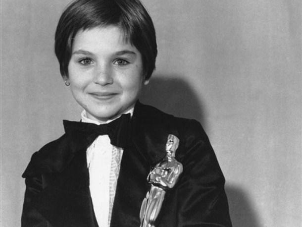 Tatum with her Oscar