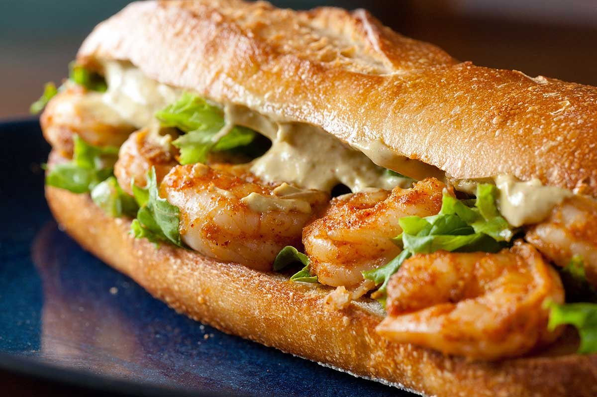 11. Spicy Shrimp Sandwich with Chipotle Avocado Mayonnaise