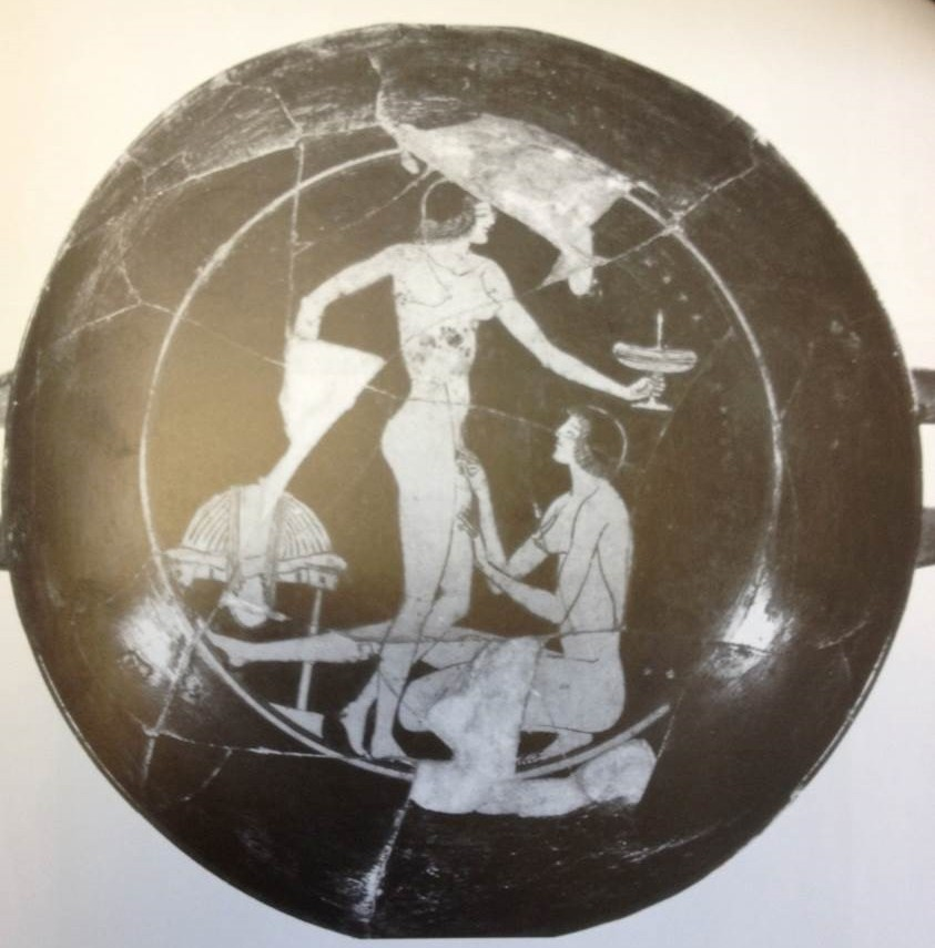 women on Athenian drinking-cup, c. 510 BCE