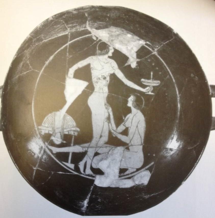 women on Athenian drinking-cup, c. 510 BCE